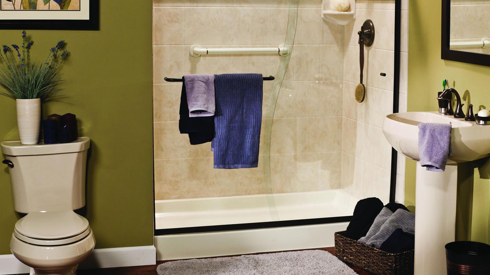 Shower Remodel Waldorf Bathroom Remodel SeeThru Windows Doors - Is it hard to remodel a bathroom