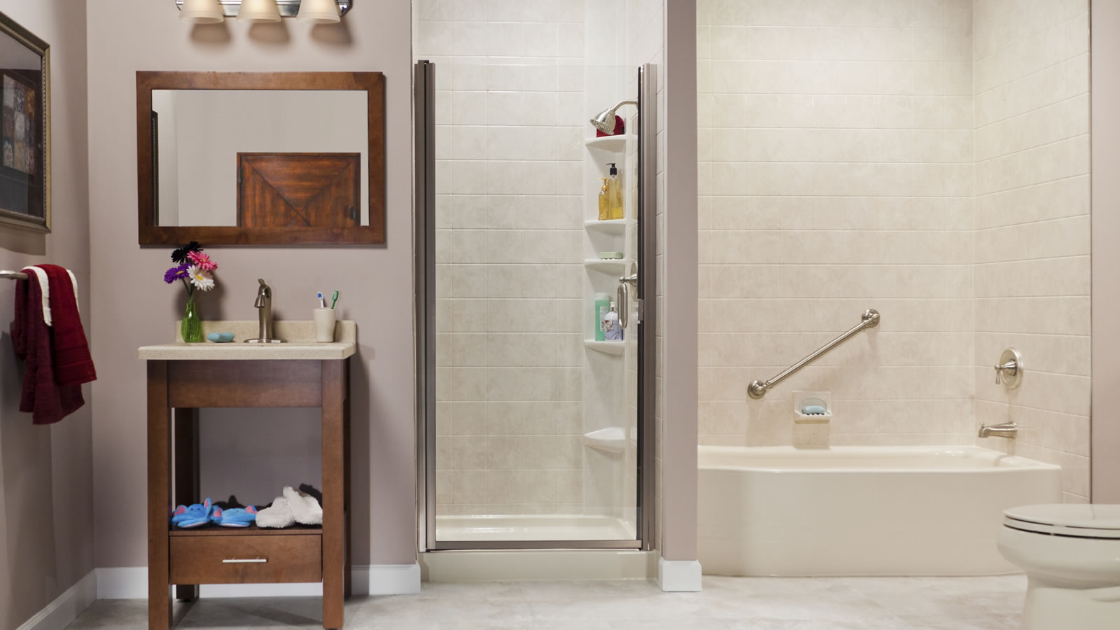 Fast and affordable bathroom remodeling from see thru for Fast bathroom remodel
